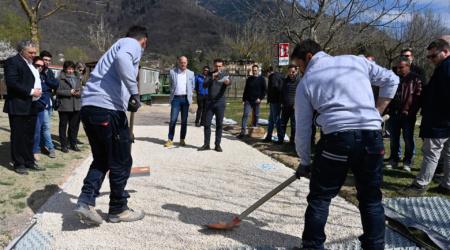 Realizzazione pavimentazioni in ghiaia