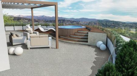 Dettaglio pavimentazione terrazza