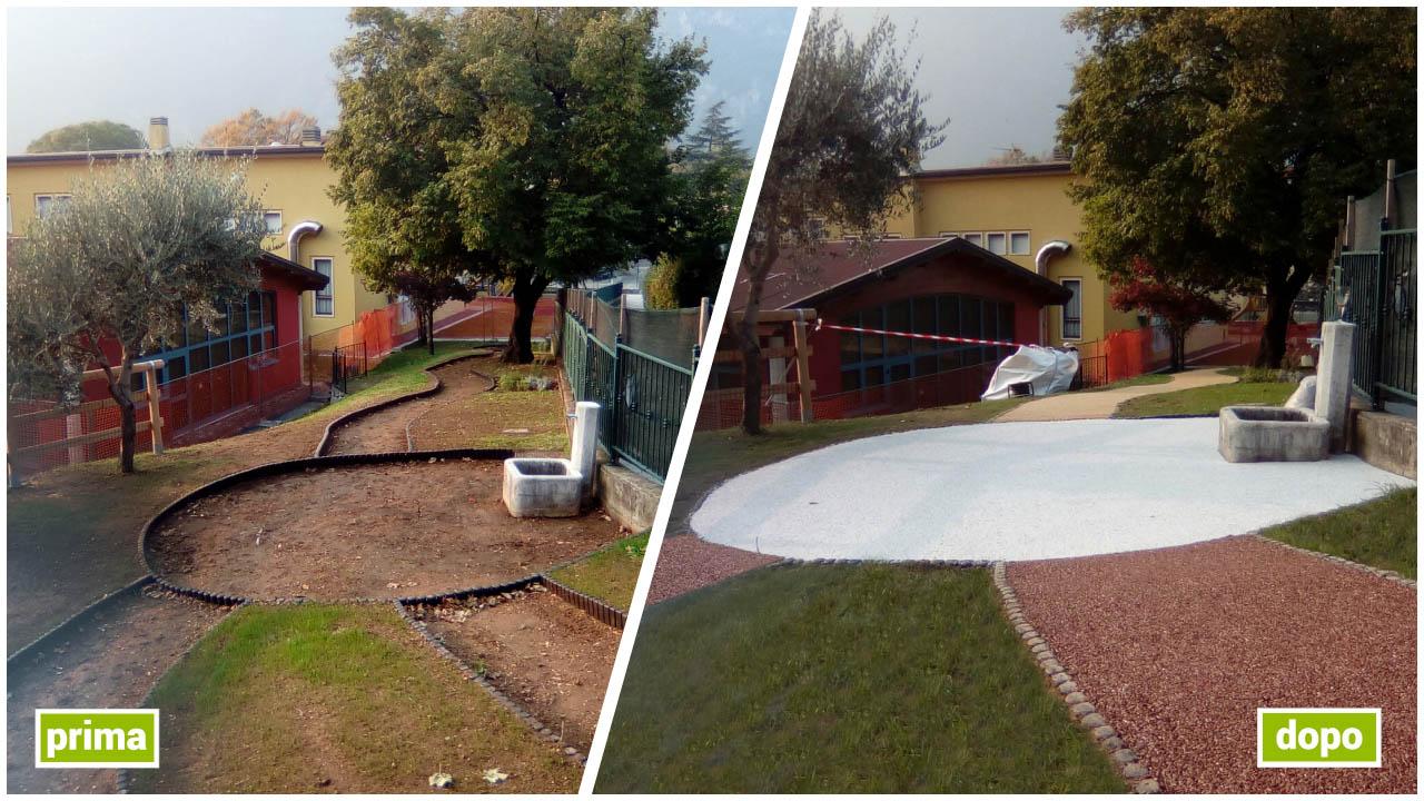 pavimentazione giardino asilo
