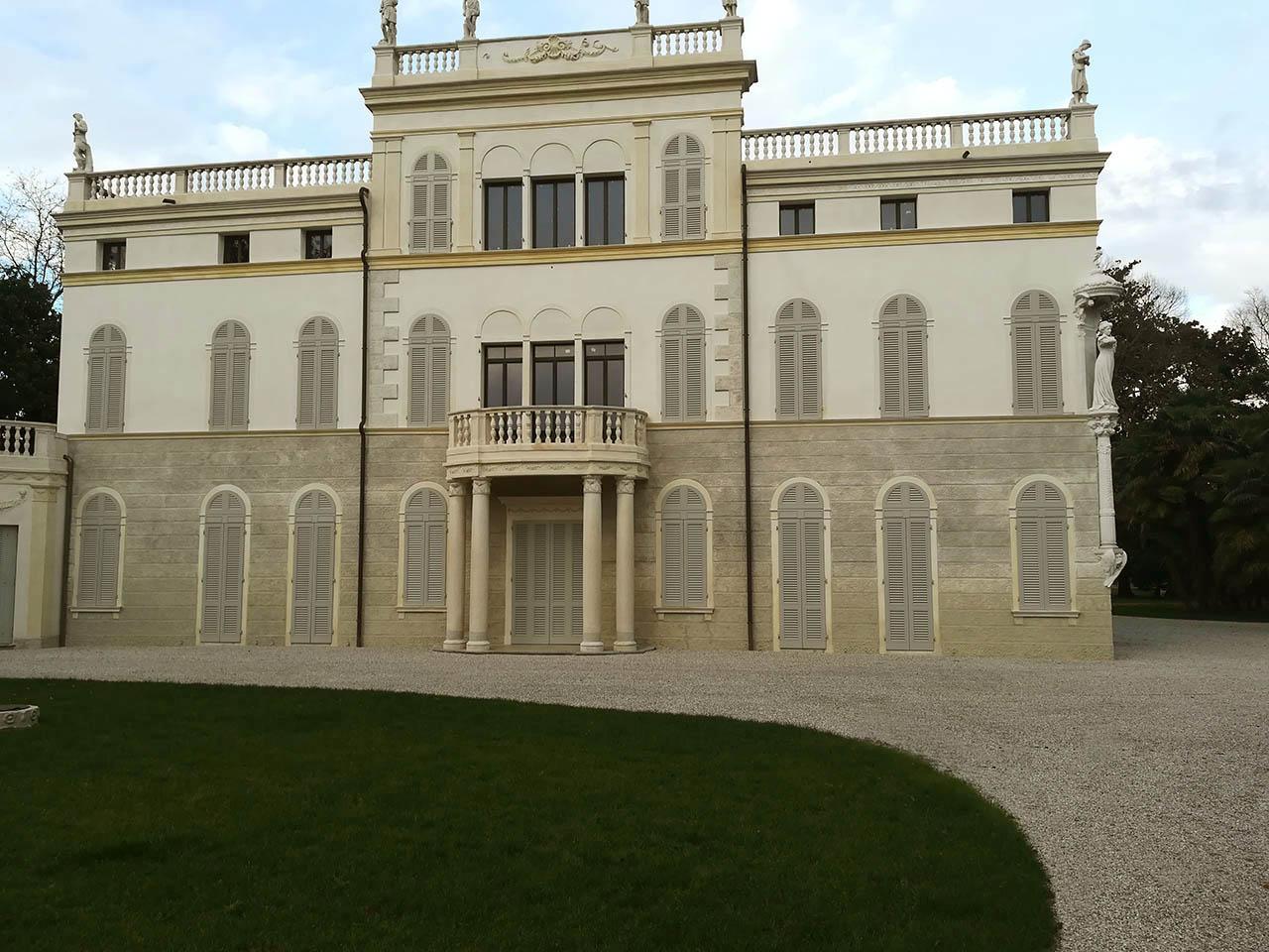 pavimentazione giardino Villa Gritti venezia