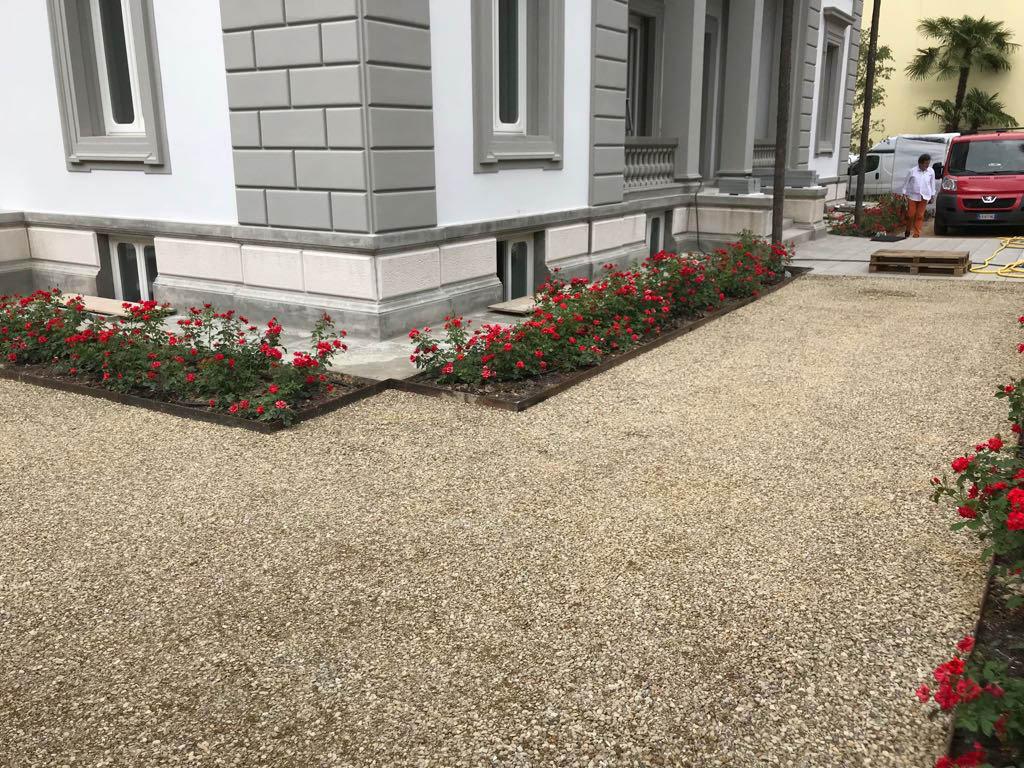 pavimentazione giardino Villa