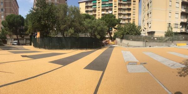 Marmo giallo di Siena pavimentazione drenante